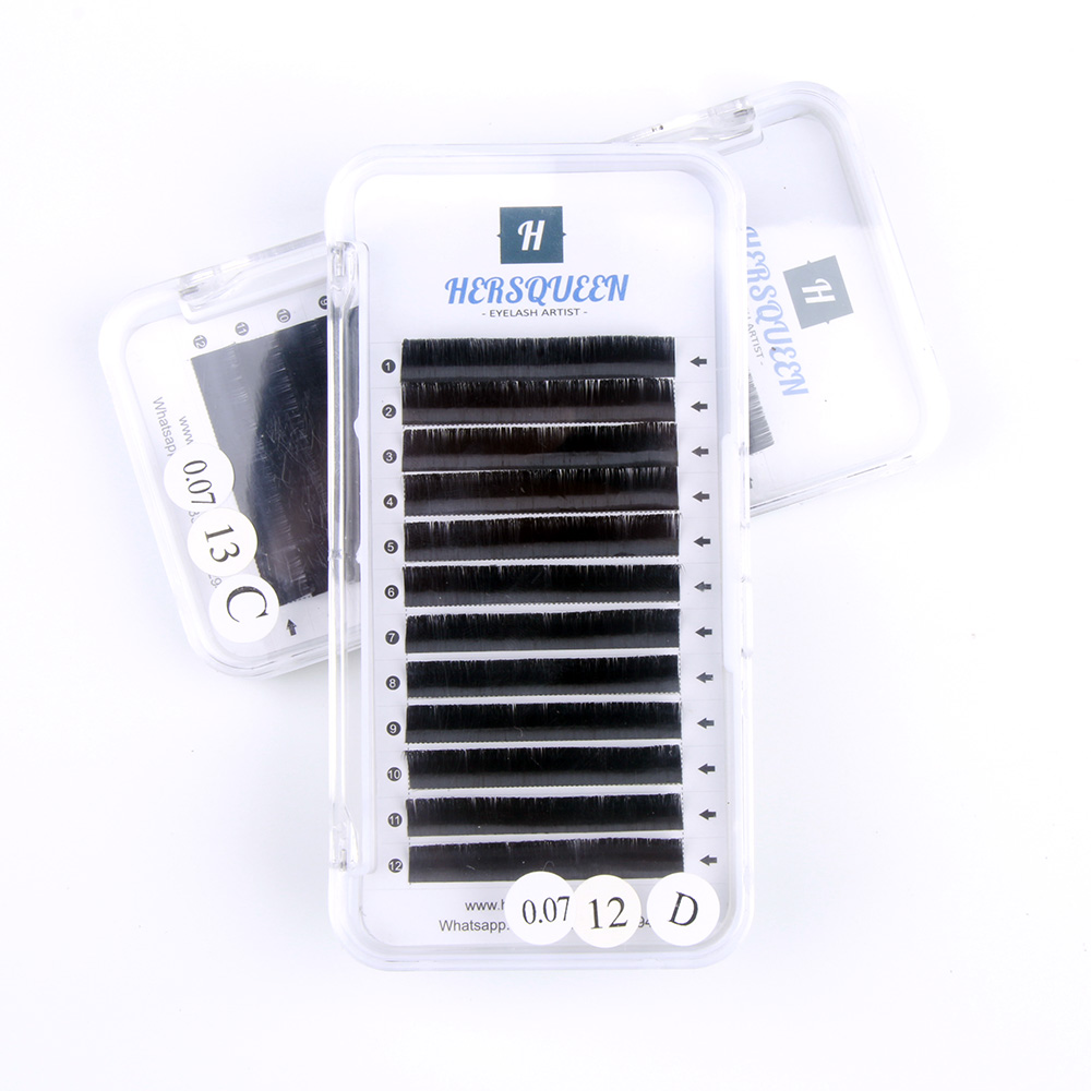 cb4d9ef802a Private Label Volume Lashes Tray 0.07 16 Lines Korean Eyelash Extensions  Custom Packaging Russian Volume Easy